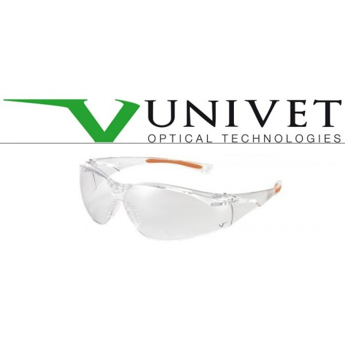 Occhiali  Univet Clear/arancio Lente Pc Clear As