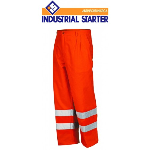 Pantaloni Alta Visibilita' Estivo Con Bande