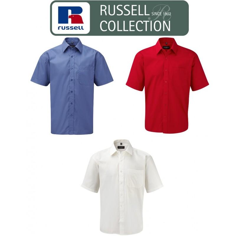 Camicia uomo  Camicia Popeline puro cotone maniche lunghe   Russell Collection