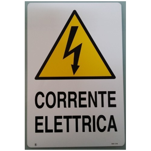 Cartella  Segnaletica  Corrente Elettrica