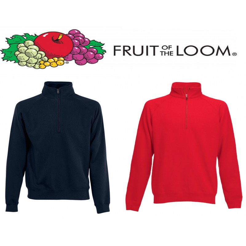 più recente b7524 7d9e0 fzc fruit - felpa mezza zip fruit of the loom