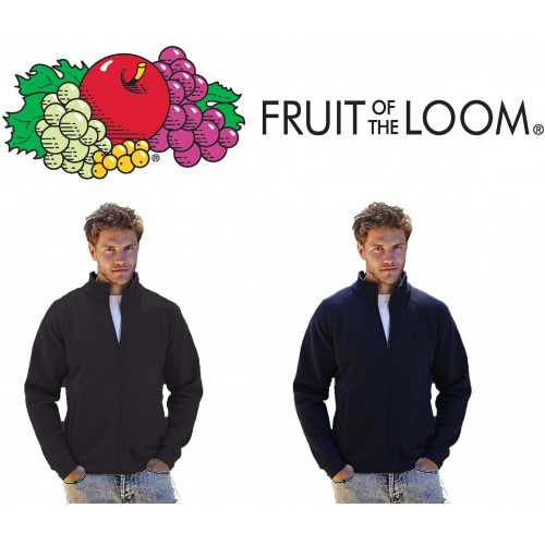 Felpa  Zip Intera Fruit Of The Loom