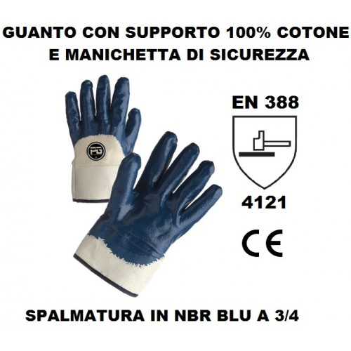 Guanto Nbr A 3/4 Con Manichetta