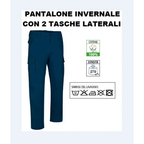 Pantaloni Multitasche Tessuto Twill 270 Gr