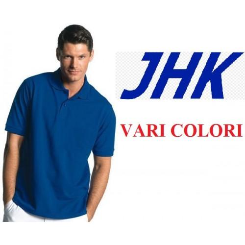 POLO MANICA CORTA MASCHILE JHK  100% COTONE