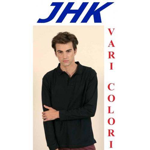 Polo Maschile Manica Lunga Jhk 100% Cotone