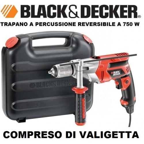 Trapano A Percussione Rever. A 750 W Con Valigetta