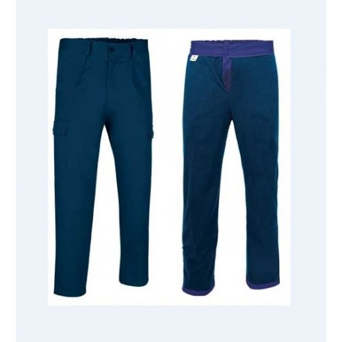 Pantalone Multitasche Invernale Navy Interno Pile