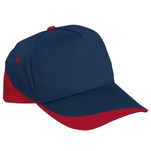 Cappellino Bicolore Con Fori Aerazione Blu/rosso