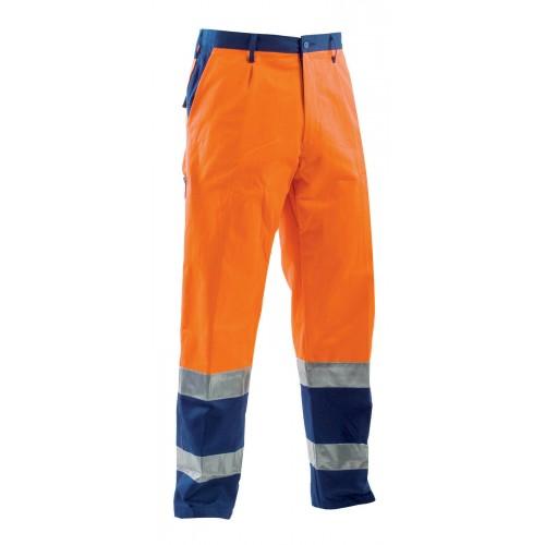Pantalone Fustagno Bicolore Alta Visibilta Arancio