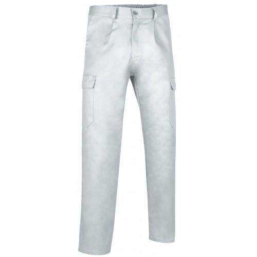 Pantalone Multitasche Con Elastico In Vita